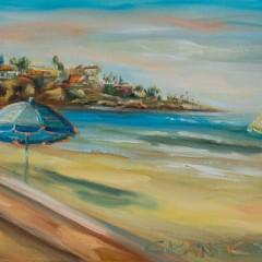 Beach Painting by Tetrachromat Artist Concetta Antico
