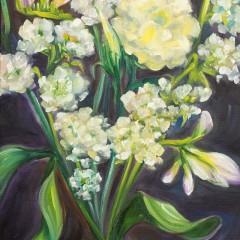 White Flower Arrangement Painting - Concetta Antico