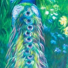 Peacock Tetrachromat Painting - Concetta Antico