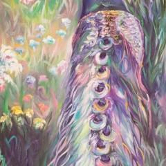 Tetrachromat Oil Painting - Peacocks on Parade