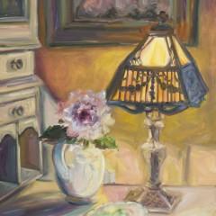 Oil Painting of Elegant Lamp Light - Concetta Antico