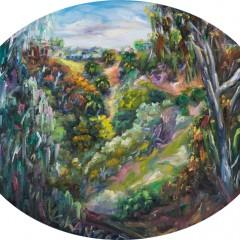 Canyon Wildlife Landscape Painting