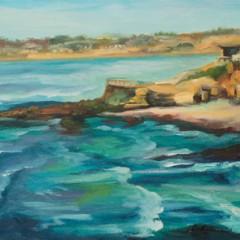 La Jolla Sea Scape Painting by Concetta Antico