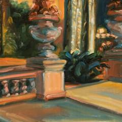 Landscape Painting - Spanish Style Balboa Park