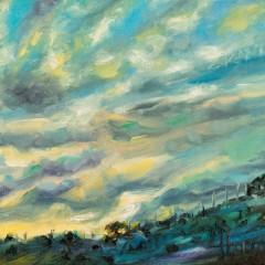 Dusk Landscape Painting by Concetta Antico